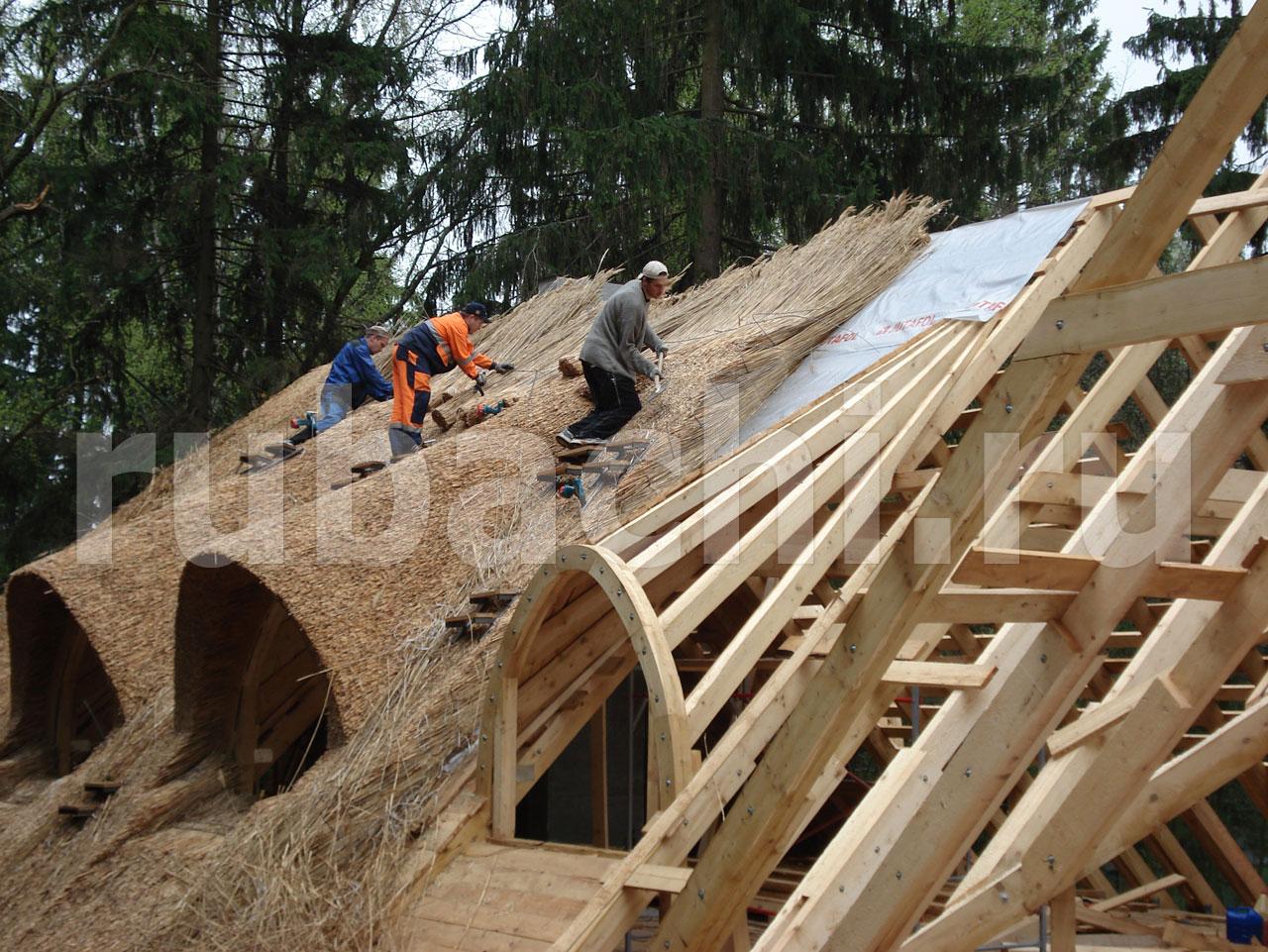 Как из соломы сделать крышу